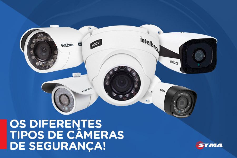 Conheça os diferentes tipos de câmeras de segurança.