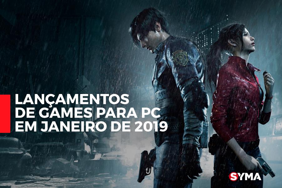 Lançamentos de Games para PC em Janeiro de 2019